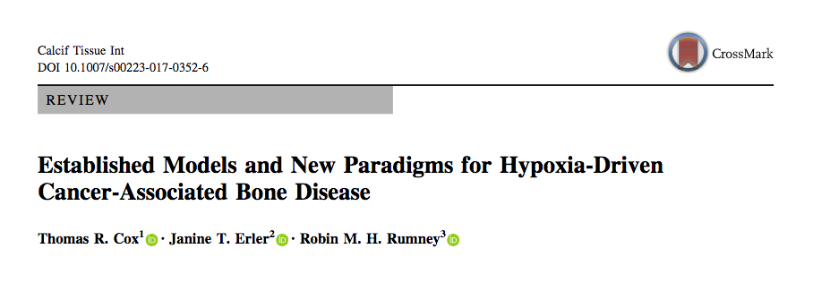 Established Models and New Paradigms for Hypoxia-Driven Cancer-Associated Bone Disease